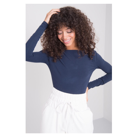 BSL Women´s navy blue long sleeve shirt Fashionhunters