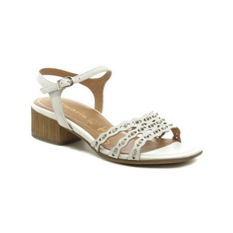 Tamaris 1-28223-24 bílé dámské sandály na podpatku Bílá