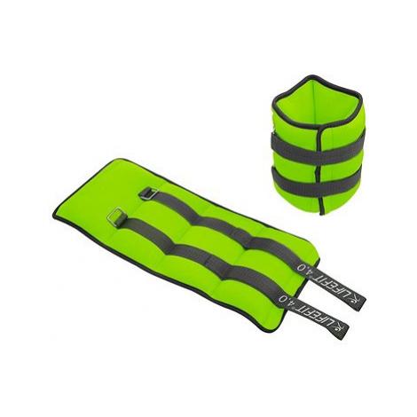 LIFEFIT kotník/zápěstí neoprenová S2, 2x4,0kg, sv. zelená