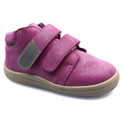 boty Beda Janette třpytky na béžové kotníčkové s membránou (BF 0001/W/M/)