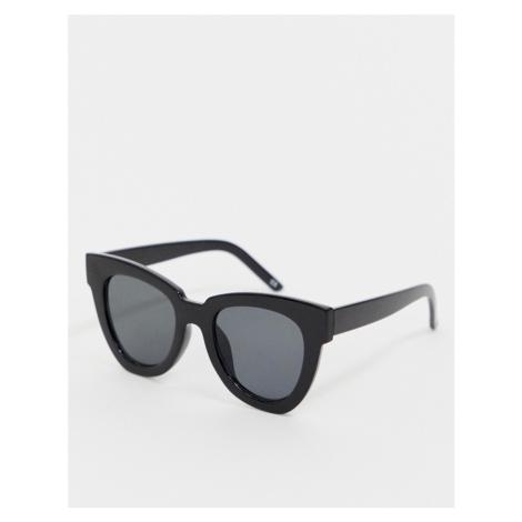 ASOS DESIGN chunky flare cat eye sunglasses-Black
