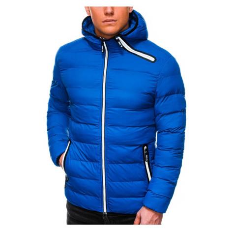Ombre Clothing Podzimní nebesky modrá bunda C451