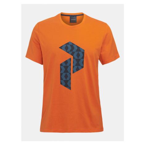 Tričko Peak Performance M Explore Tee P Logo Pri - Oranžová