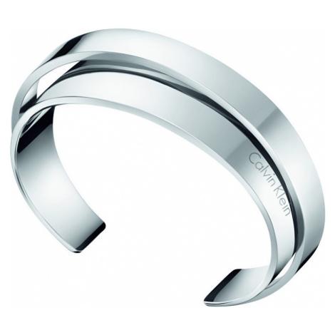 Calvin Klein Otevřený ocelový náramek Unite KJ5ZMF0001 6,2 x 4,9 cm - M