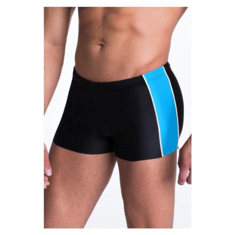 Pánské plavky boxerky Hector černomodré Primo