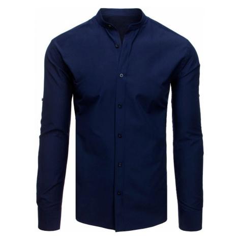 Elegant navy blue shirt for men DX1876 DStreet
