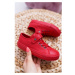 Children's Leather Sneakers BIG STAR EE374036 Red