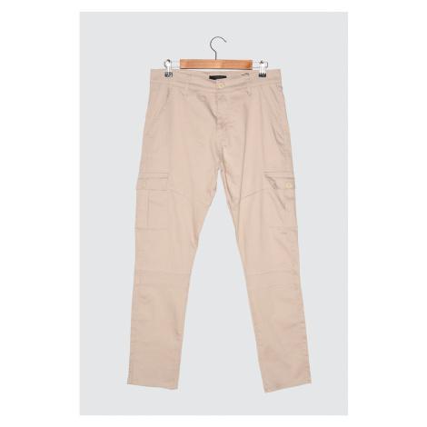 Trendyol Stone Male Slim Fit Cargo Pocket Pants