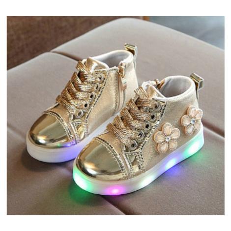 Dívčí svítící boty s květinami FashionEU