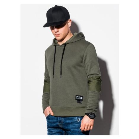 Ombre Clothing Khaki mikina v trendovém provedení B1075
