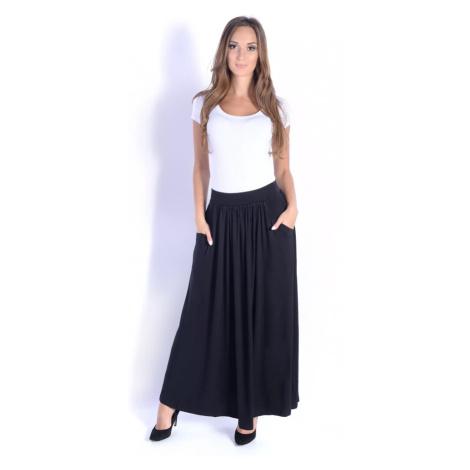 Černá dlouhá sukně s kapsami Oxyd
