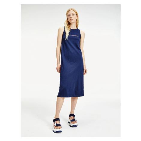 Tommy Jeans dámské tmavě modré šaty Tommy Hilfiger