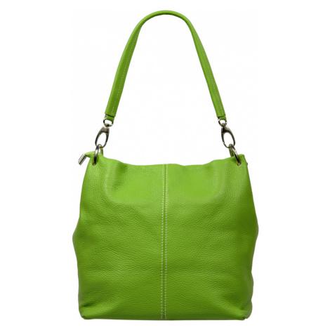 Dámské zelené kožené kabelky Fiora Verde