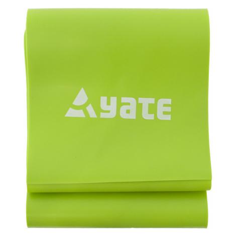 Cvičební pás YATE Fit Band tuhý, zelená