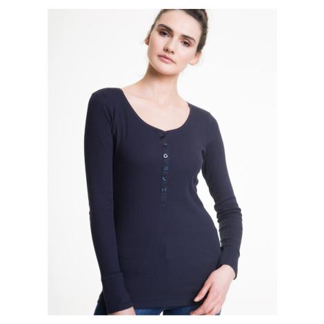 Big Star Woman's Longsleeve T-shirt 152509 Navy Blue-477