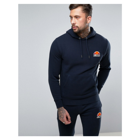 Ellesse hoodie with small logo in navy