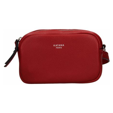 Kožená dámska ledvinko- kabelka Katana Marcels - tmavě červená