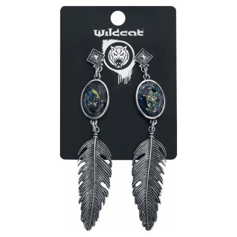 Wildkitten® Opal Feather Earstuds sada náušnic stríbrná