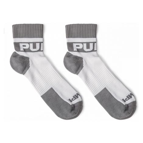 PUMP! pánské sportovní bílo-šedé ponožky krátké All-Sport Grey Socks 41005