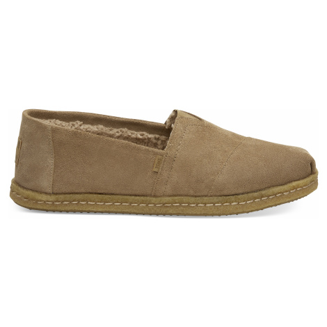 Toffee Suede Shearling TOMS Venice Collection Men Alpargata