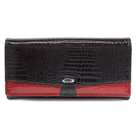 Černá dámská kroko kožená peněženka Candy Cossroll