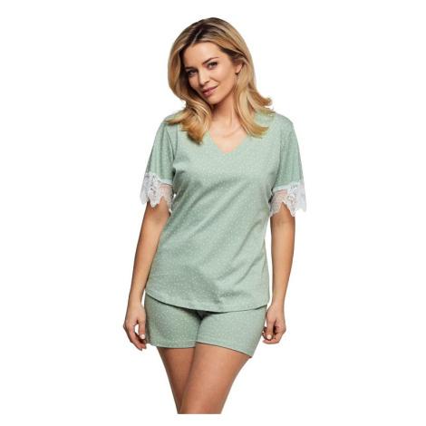Luxusní dámské pyžamo Olivia zelené Cana