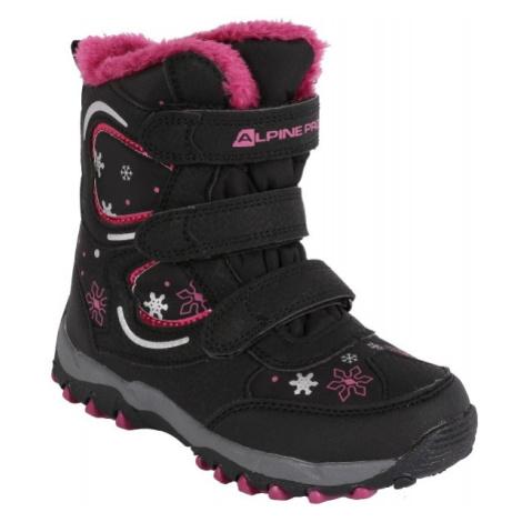 ALPINE PRO KABUNI černá - Dětská zimní obuv pro volný čas