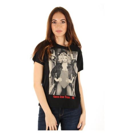 Guess dámské černé tričko Icon