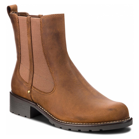 Kotníková obuv s elastickým prvkem CLARKS - Orinoco Club 203409174 Brown Snuff