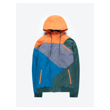 GATE Vícebarevná vatovaná bunda s kapucí