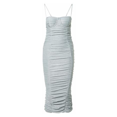 CLUB L LONDON Koktejlové šaty stříbrná