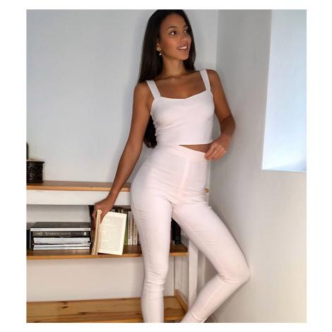 Vesper Tall skinny trouser co ord in pink