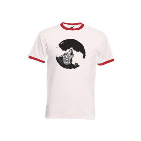 Pánské tričko s kontrastními lemy Vlk
