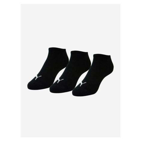 Ponožky Puma Unisex Sneaker Plain 3 Pack Černá