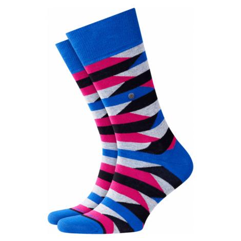 Ponožky Burlington FRAGMENTS modrá|růžová|šedá