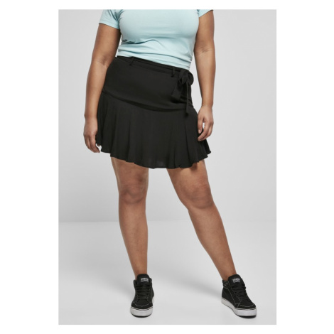 Ladies Viscose Mini Skirt - black Urban Classics