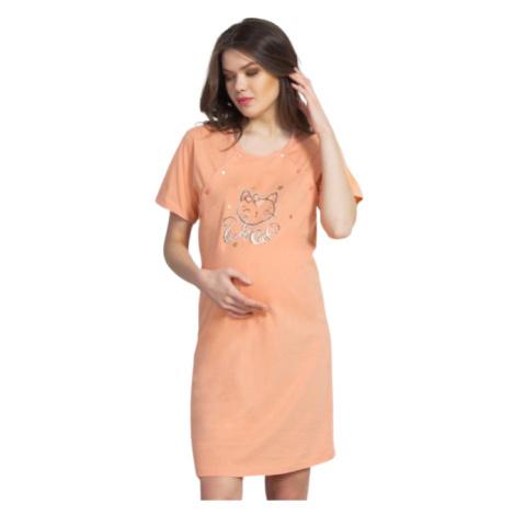 Dámská noční košile Vienetta Secret Kočka mateřská | oranžová