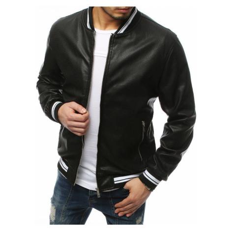 Dstreet Perfektní černá koženková bunda
