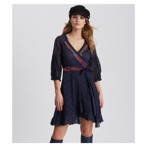 Šaty Odd Molly Two-Step Flow Dress - Modrá