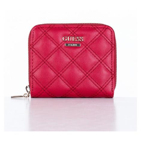 Guess GUESS dámská červená peněženka CESSILY SML ZIP AROUND