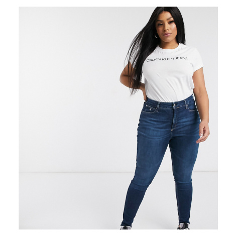 Calvin Klein Jeans Inclusive high rise skinny jean with stretch-Blue