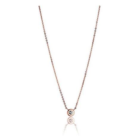 Victoria Walls Elegantní bronzový náhrdelník s krystalem VN1088R