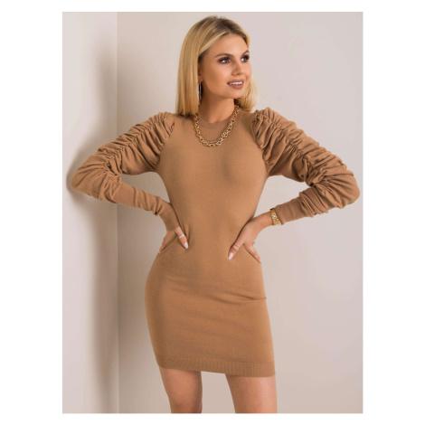Dark beige knitted dress