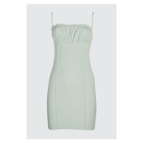 Trendyol Mint Pucker Detailed Dress