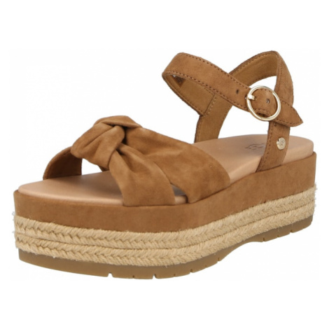 UGG Páskové sandály 'TRISHA' karamelová