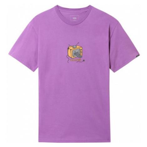Vans MN SKATE TV SS fialová - Pánské tričko