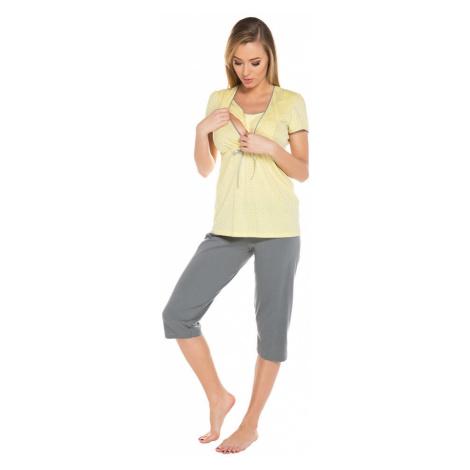 Italian Fashion Těhotenské a kojicí pyžamo Felicita žluté