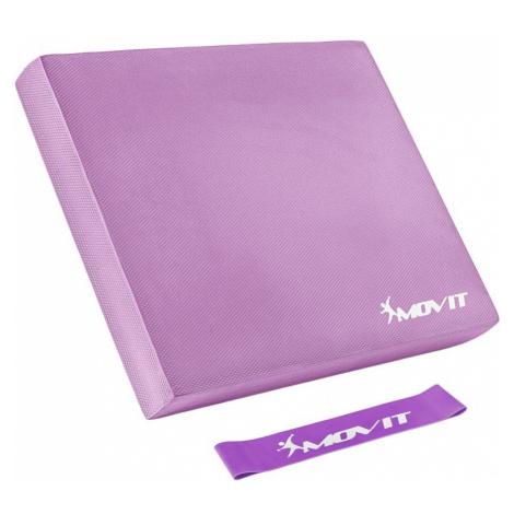 MOVIT Balanční polštář s gymnastickou gumou - růžová