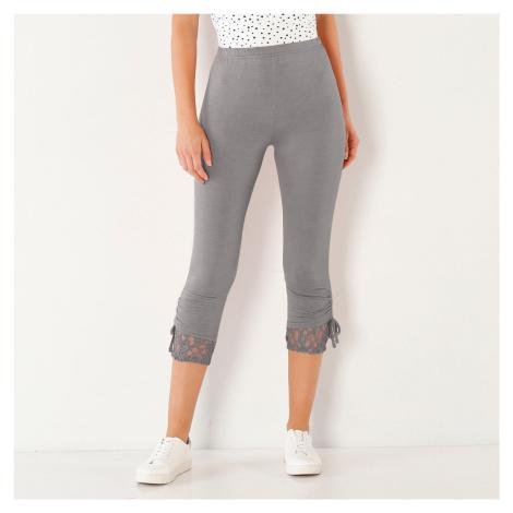 Blancheporte Korzárské kalhoty s krajkou modrošedá