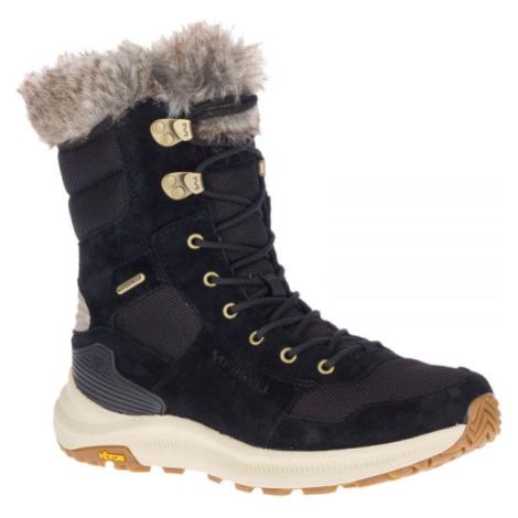 Merrell ONTARIO TALL PLR WP černá - Dámské zimní boty